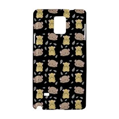 Cute Hamster Pattern Black Background Samsung Galaxy Note 4 Hardshell Case by BangZart