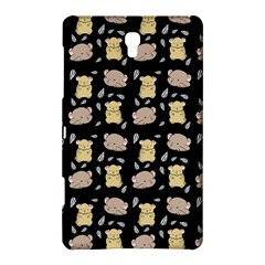 Cute Hamster Pattern Black Background Samsung Galaxy Tab S (8 4 ) Hardshell Case