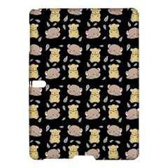 Cute Hamster Pattern Black Background Samsung Galaxy Tab S (10 5 ) Hardshell Case