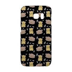 Cute Hamster Pattern Black Background Galaxy S6 Edge by BangZart
