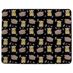 Cute Hamster Pattern Black Background Jigsaw Puzzle Photo Stand (rectangular)
