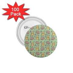 Cute Hamster Pattern 1 75  Buttons (100 Pack)
