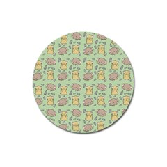 Cute Hamster Pattern Magnet 3  (round)