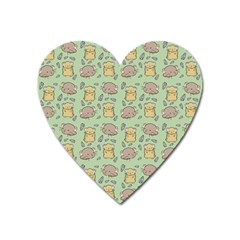 Cute Hamster Pattern Heart Magnet by BangZart