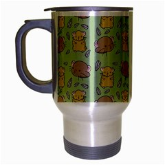 Cute Hamster Pattern Travel Mug (silver Gray)