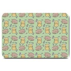 Cute Hamster Pattern Large Doormat  by BangZart