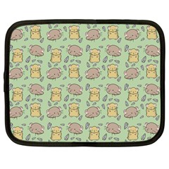 Cute Hamster Pattern Netbook Case (large) by BangZart