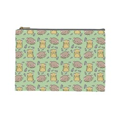 Cute Hamster Pattern Cosmetic Bag (large)  by BangZart