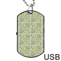 Cute Hamster Pattern Dog Tag Usb Flash (one Side)