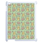 Cute Hamster Pattern Apple iPad 2 Case (White) Front