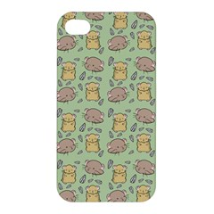 Cute Hamster Pattern Apple Iphone 4/4s Premium Hardshell Case by BangZart