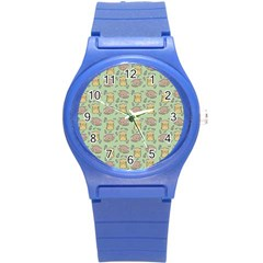 Cute Hamster Pattern Round Plastic Sport Watch (s) by BangZart