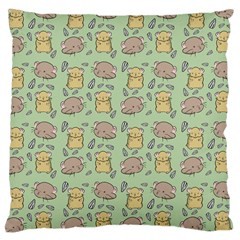 Cute Hamster Pattern Large Cushion Case (two Sides) by BangZart