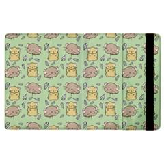 Cute Hamster Pattern Apple Ipad 2 Flip Case