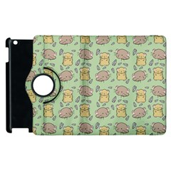 Cute Hamster Pattern Apple Ipad 2 Flip 360 Case by BangZart