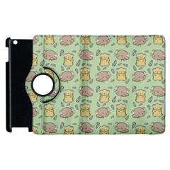 Cute Hamster Pattern Apple Ipad 3/4 Flip 360 Case by BangZart