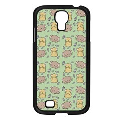 Cute Hamster Pattern Samsung Galaxy S4 I9500/ I9505 Case (black) by BangZart