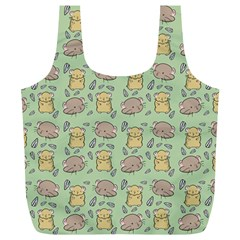 Cute Hamster Pattern Full Print Recycle Bags (l)