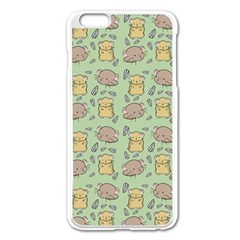 Cute Hamster Pattern Apple Iphone 6 Plus/6s Plus Enamel White Case by BangZart