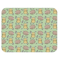 Cute Hamster Pattern Double Sided Flano Blanket (medium)  by BangZart