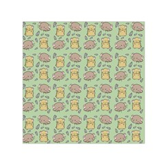 Cute Hamster Pattern Small Satin Scarf (square) by BangZart