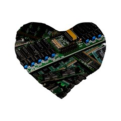 Computer Ram Tech Standard 16  Premium Flano Heart Shape Cushions by BangZart