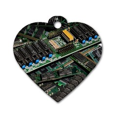Computer Ram Tech Dog Tag Heart (one Side) by BangZart