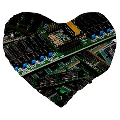 Computer Ram Tech Large 19  Premium Heart Shape Cushions by BangZart