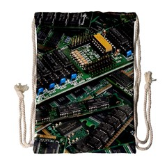 Computer Ram Tech Drawstring Bag (large)