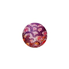 Colorful Art Traditional Batik Pattern 1  Mini Magnets