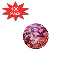 Colorful Art Traditional Batik Pattern 1  Mini Magnets (100 Pack)