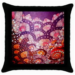 Colorful Art Traditional Batik Pattern Throw Pillow Case (black) by BangZart