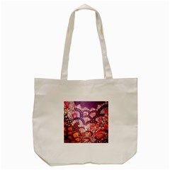 Colorful Art Traditional Batik Pattern Tote Bag (cream) by BangZart