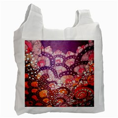 Colorful Art Traditional Batik Pattern Recycle Bag (two Side)