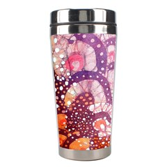 Colorful Art Traditional Batik Pattern Stainless Steel Travel Tumblers by BangZart