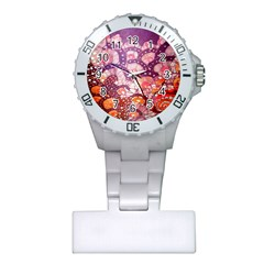 Colorful Art Traditional Batik Pattern Plastic Nurses Watch