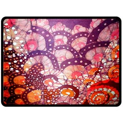 Colorful Art Traditional Batik Pattern Double Sided Fleece Blanket (large)