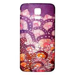 Colorful Art Traditional Batik Pattern Samsung Galaxy S5 Back Case (white)