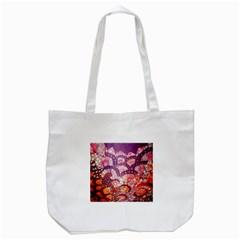 Colorful Art Traditional Batik Pattern Tote Bag (white) by BangZart