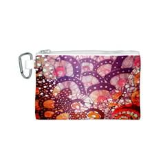Colorful Art Traditional Batik Pattern Canvas Cosmetic Bag (s) by BangZart