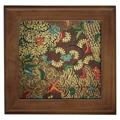 Colorful The Beautiful Of Art Indonesian Batik Pattern Framed Tiles