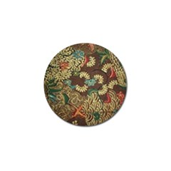 Colorful The Beautiful Of Art Indonesian Batik Pattern Golf Ball Marker (10 Pack) by BangZart