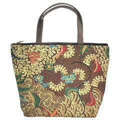 Colorful The Beautiful Of Art Indonesian Batik Pattern Bucket Bags