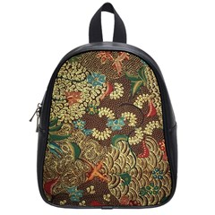 Colorful The Beautiful Of Art Indonesian Batik Pattern School Bags (small)  by BangZart