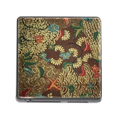Colorful The Beautiful Of Art Indonesian Batik Pattern Memory Card Reader (square)
