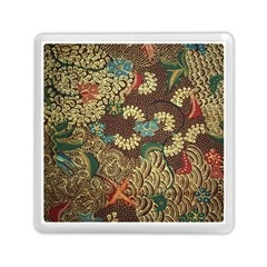 Colorful The Beautiful Of Art Indonesian Batik Pattern Memory Card Reader (square)
