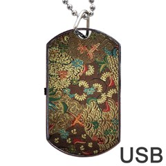 Colorful The Beautiful Of Art Indonesian Batik Pattern Dog Tag Usb Flash (two Sides) by BangZart