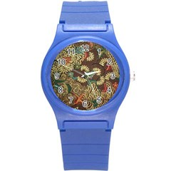 Colorful The Beautiful Of Art Indonesian Batik Pattern Round Plastic Sport Watch (s) by BangZart