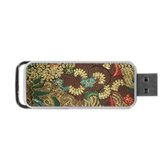 Colorful The Beautiful Of Art Indonesian Batik Pattern Portable Usb Flash (one Side)