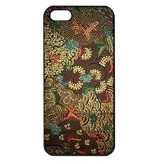 Colorful The Beautiful Of Art Indonesian Batik Pattern Apple Iphone 5 Seamless Case (black)
